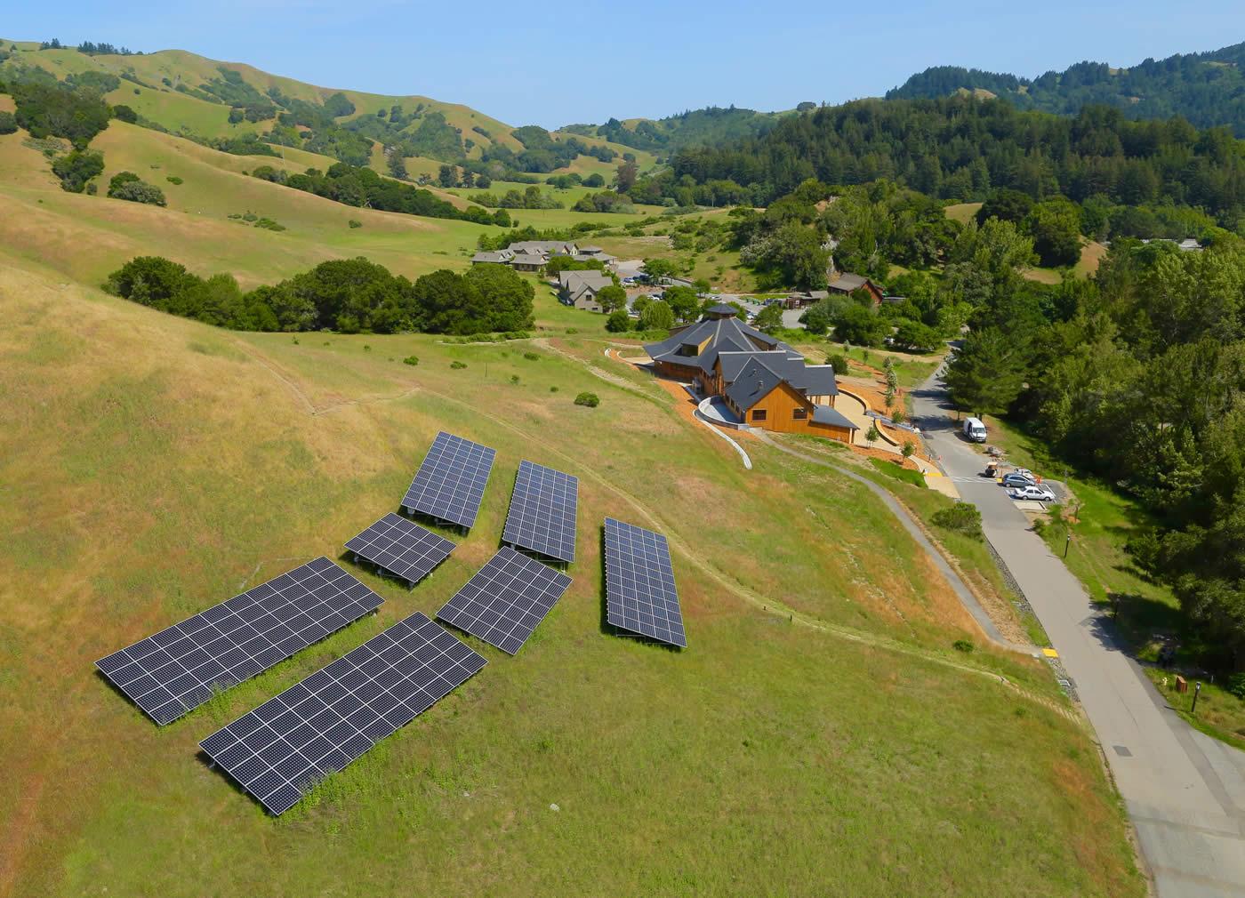 residential solar ground mount Woodacre California